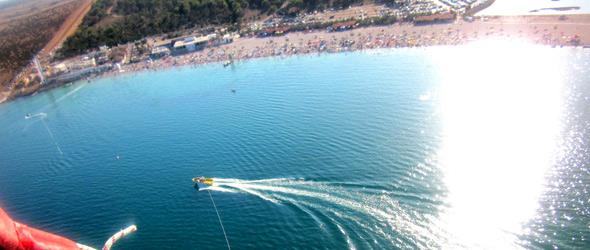 Zrce Beach Kroatien Luftaufnahme