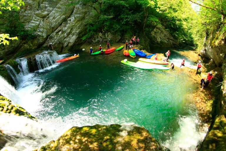 Kayaktour im Fluss Mrežnica