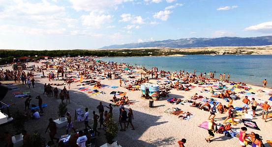 Zrce Beach Strandleben
